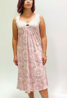 7042 Сорочка 46-52 розовый зефир