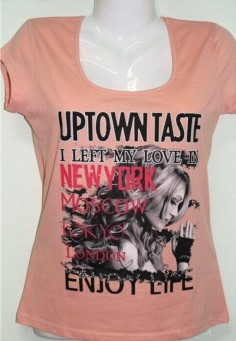 1839 Футболка жен. персик Uptown taste 44-52